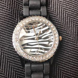 NWOT Zebra Face Watch